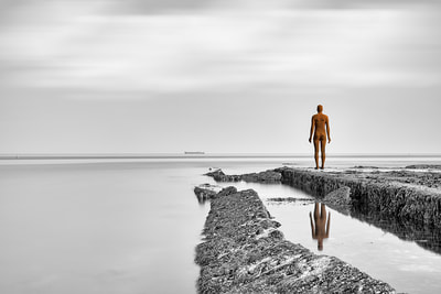 "Limited Edition Prints by Greg Bottle  of the Antony Gormley ""Another Time"" sculpture at Turner Contemporary Margate"